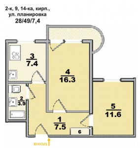 Типовые планы 2 комнатных квартир (10 kopiya 284x300)