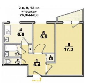Типовые планы 2 комнатных квартир (13 kopiya 300x289)