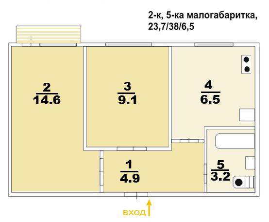 Профессиональный ремонт в 3-х комнатной хрущевке в Москве