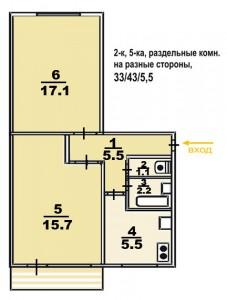 Типовые планы 2 комнатных квартир (17 kopiya 227x300)