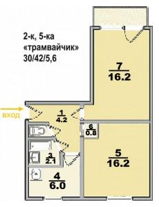 Типовые планы 2 комнатных квартир (2 kopiya 230x300)